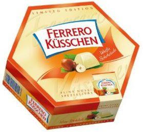 Ferrero Küßchen mit weisser Schokolade. Limited Edition