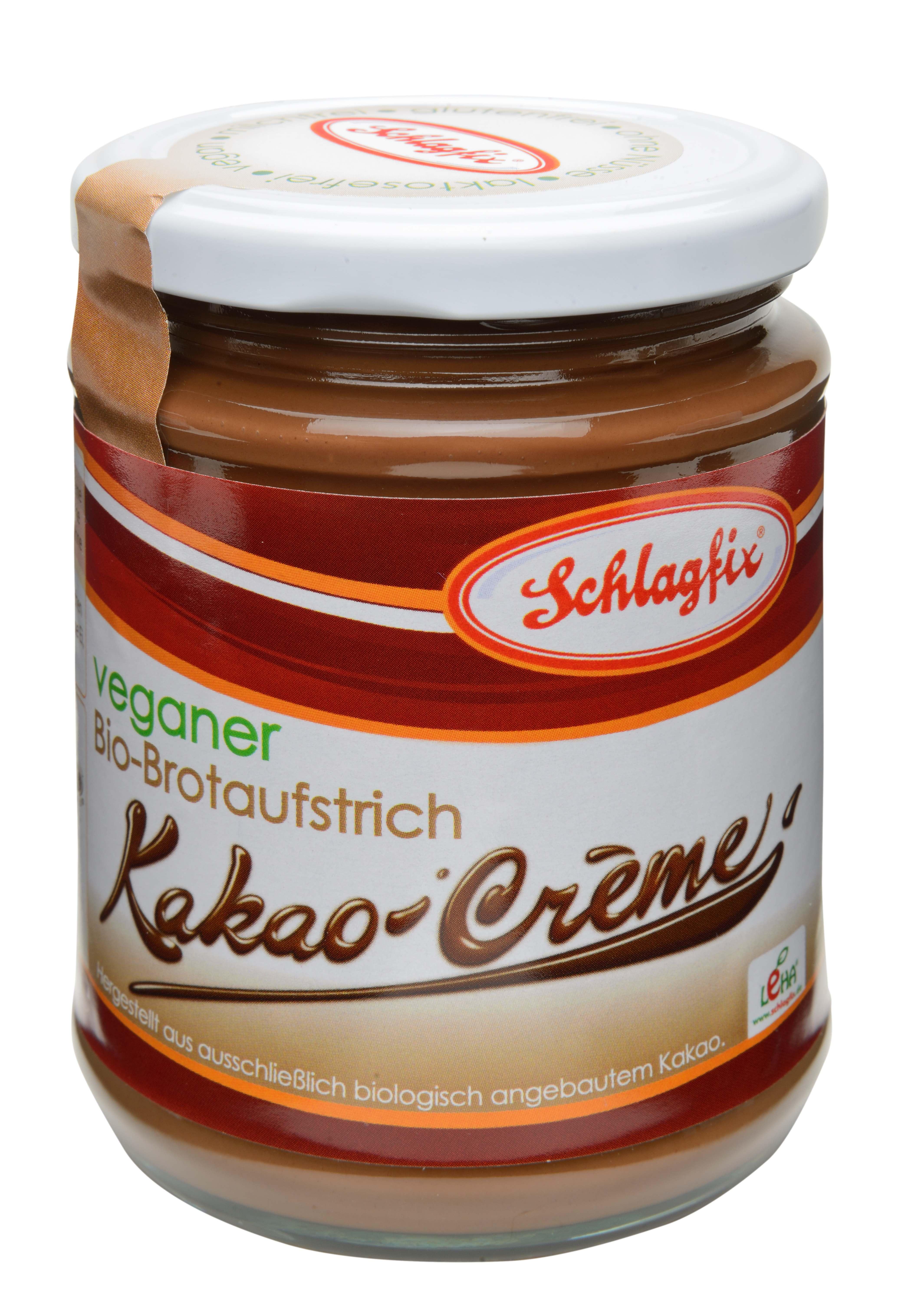 Schlagfix vegane BIO-Kakaocreme, 275g Glas