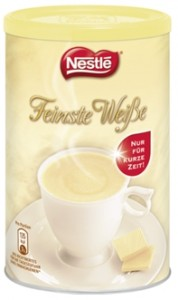 Feinste Weiße Trinkschokolade, weißer Kakao mit mind. 10% weißer Schokolade